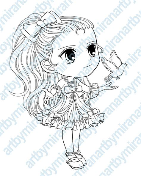 digital digi sts big eye doll coloring page girl by