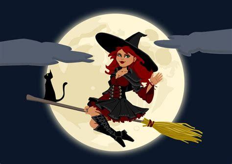 imagenes de brujas volando halloween imagen bruja de halloween img 22969