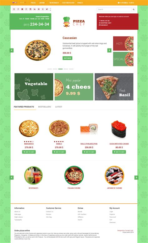eshop template chef delivery e shop html bootstrap template by