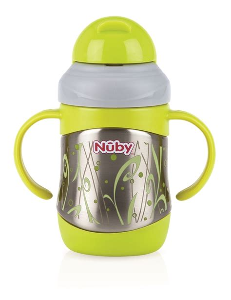 Sale Nuby Click It Insulated Stainless Steel Straw Bottle 280ml clik it insulated stainless steel flip it thermos with weighted 360 176 straw 7 5oz 220ml
