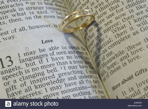 Wedding Bible Images by A Wedding Ring On An Open Bible Stock Photo Royalty Free