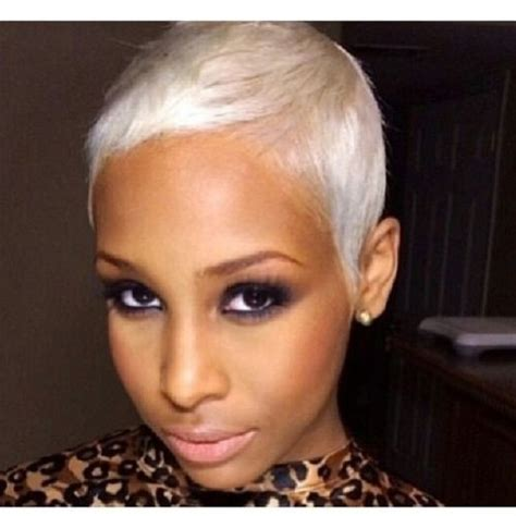 black and platinum hairstyles 55 best platinum short hair black girls images on