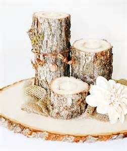 Tree Stump Vase 23 Vibrant Fall Wedding Centerpieces To Inspire Your Big Day