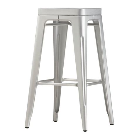 brushed aluminum bar stool micazza home decorators collection garden 30 in brushed aluminum