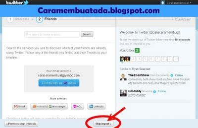 cara membuat twitter melalui blackberry cara membuat twitter daftar twitter indonesia baru gratis