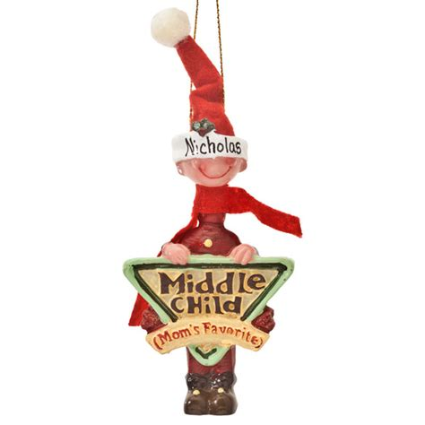 moms favorite middle child ornament christmas miles