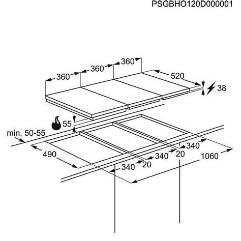 piano cottura 45 cm eqh 4512bog electrolux piano cottura da 45 cm a induzione