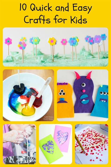 craft ideas for 5 10 and easy crafts for 5 minutes for