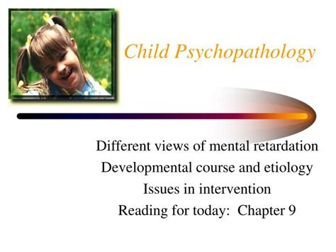 Child Psychopathology child psychopathology essay topics