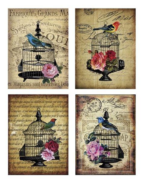 Decoupage Printables - sheet vogels nostalgie dieren nostalgie brocante