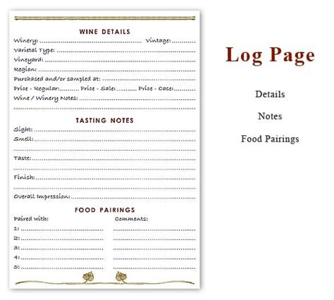 printable wine journal pages essential wine journal 120 pages 69 95 any wine lover