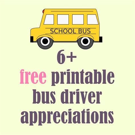 printable art buy free printable school bus driver appreciations round up