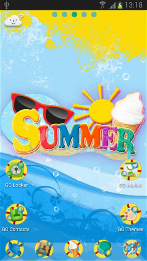 summer themes go launcher ex summer theme download apk for android