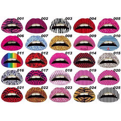 tattoo sticker maker aliexpress com buy new 3d art lips sticker glitter pink