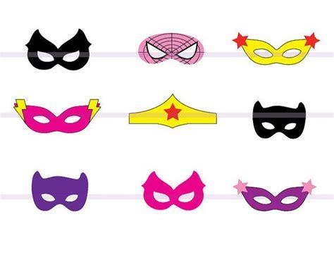 printable girl mask 9 best images of printable superhero mask cutouts super
