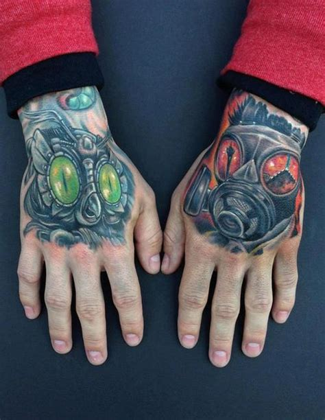 tattoo hand mask 6 gas mask tattoos on hands