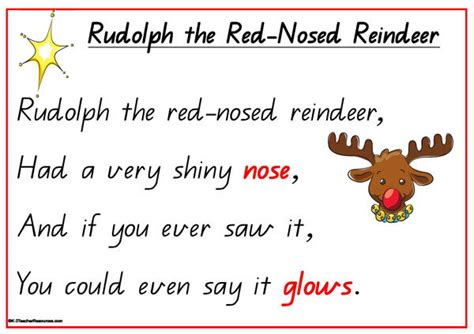 printable version of rudolph the red nosed reindeer rudolph the red nosed reindeer