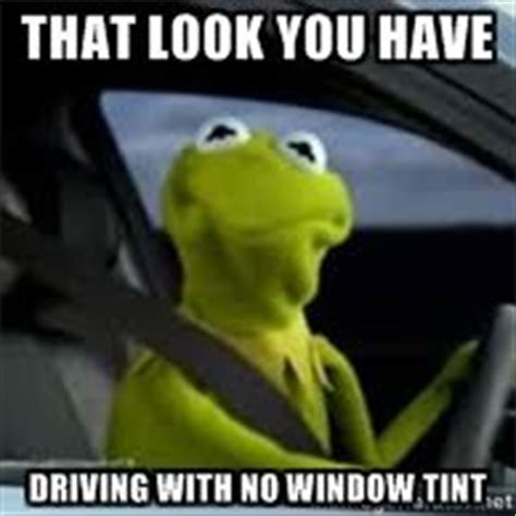 Kermit The Frog Meme Driving - that look you have driving with no window tint kermit