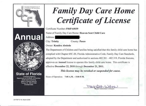 child care safety licensing