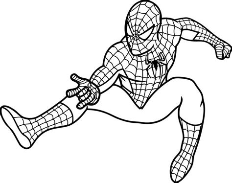 dibujos para pintar hombre araña spiderman colorear 6 spider man