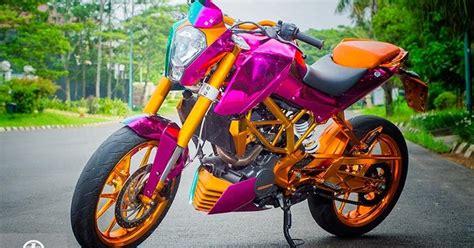 Lu Warna Warni Untuk Motor motor drag foto modifikasi motor warna warni jadi