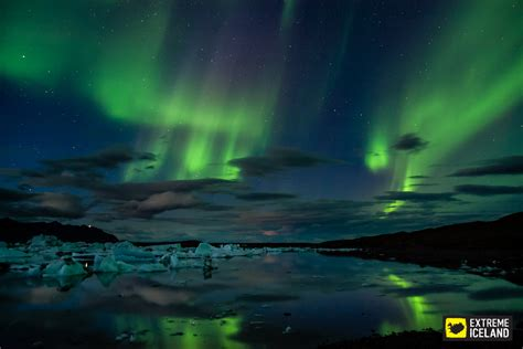 extreme iceland northern lights glacier lagoon sightseeing two day minibus tour