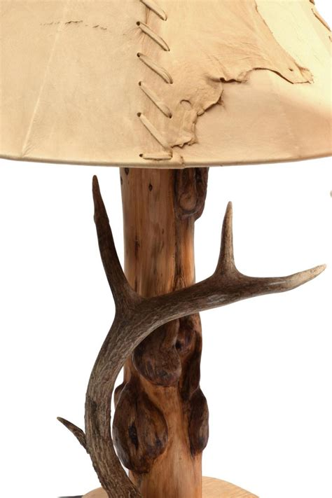 Pair Of Western Style Table Lamps With Fine Leather Shades