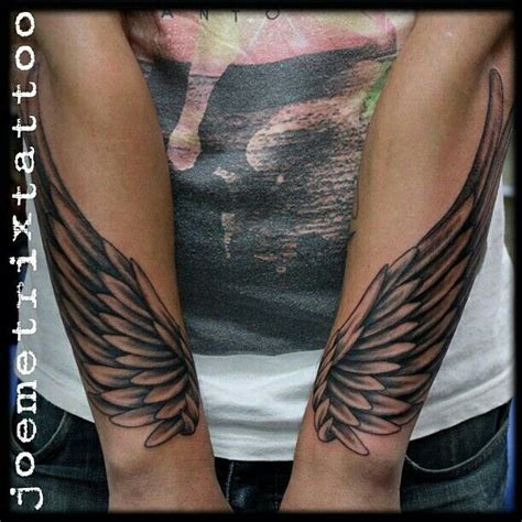 angel wing tattoo on forearm best 25 wing arm ideas on forearm wing