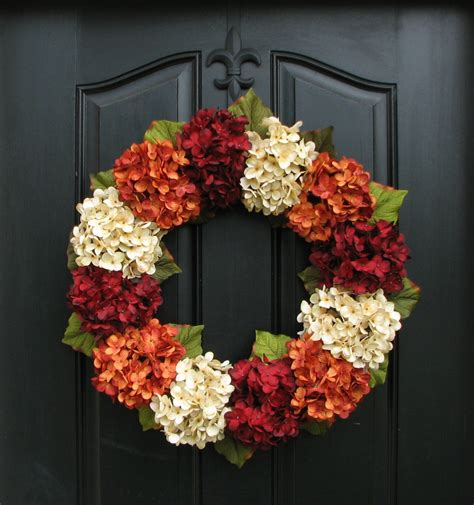 autumn wreaths fall hydrangea wreath fall wreath etsy fall hydrangea