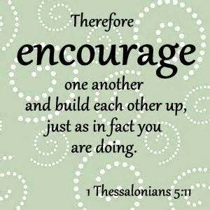 E Ourage One Another And Build Each Other Up St Peter