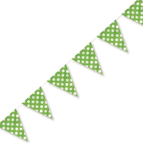 Lime Green Polka Dot Plastic Party Bunting 3.65m   from All You Need To Party UK