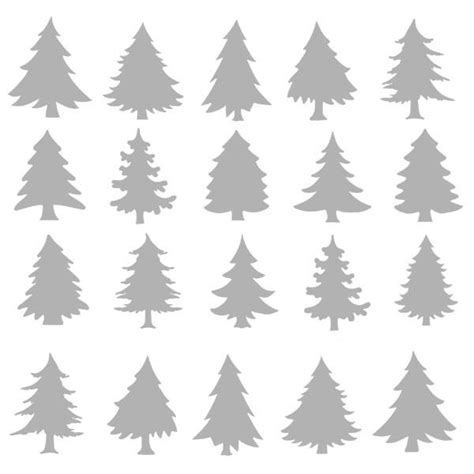 christmas tree 18 in stencil 6 quot x 6 quot stencil winter evergreen trees