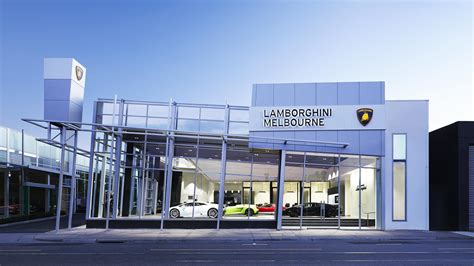 lamborghini showroom building hsj corporate services australia corporate signage
