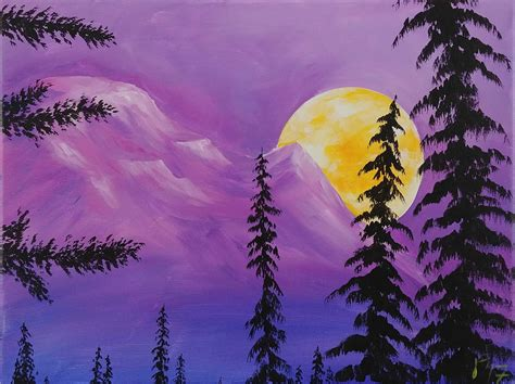 Painting With Jane Free Acrylic Painting Tutorials For Beginners Sun Moon And Stars Paint Free