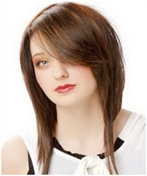 medium style hair with back a little shorter than sides hairstyles long in front short in back