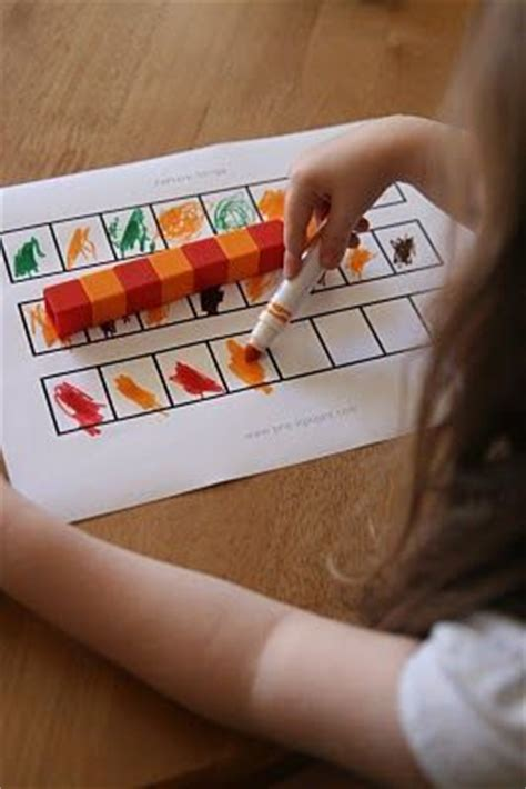 pattern activities for early childhood childhood education note and small groups on pinterest