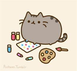 pusheen colouring pages