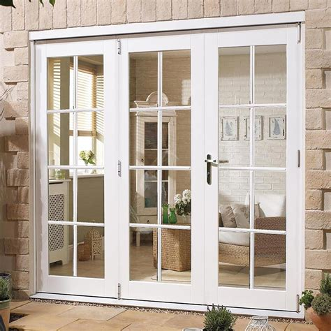 Patio Furniture Direct Nuvu White 8 Pane Exterior French Doors With Side Frame