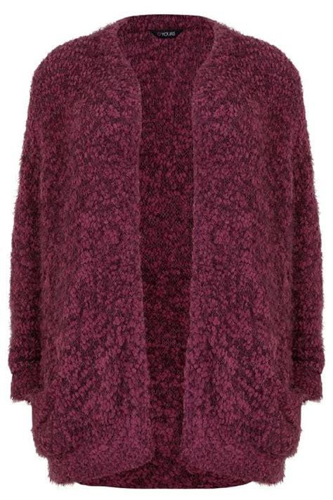 Cp Onb Cocoon Blouse burgundy longline eyelash cardigan plus size 16 to 36
