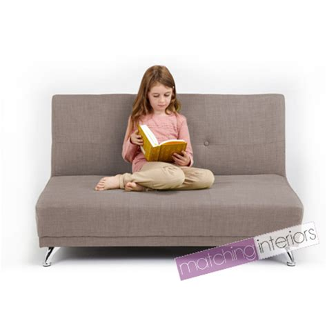 kids bed settee light grey clic clac children s kids 2 seater sofa bed guest sleepover settee ebay