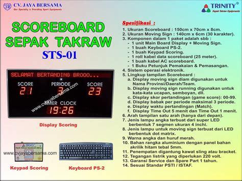 Papan Skor Digital Led papan skor digital sepak takraw sts 01 agen alat olahraga