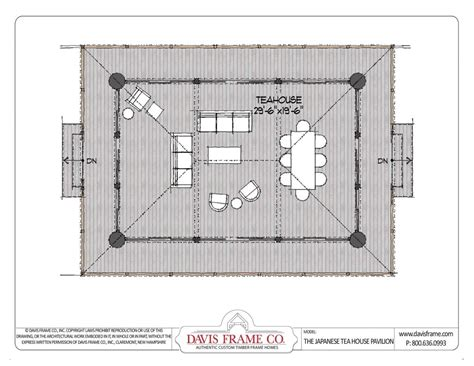 houses and floor plans japanese tea house plans and floor layout davis frame co