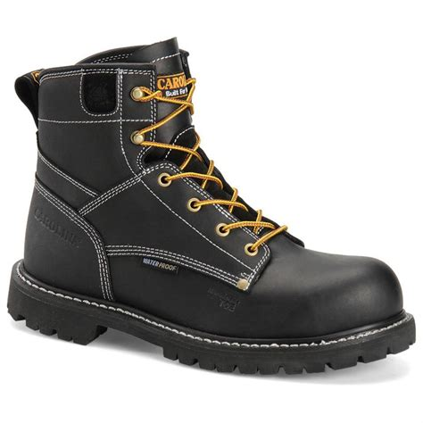 mens composite toe work boots s carolina 174 6 quot waterproof composite toe work boots