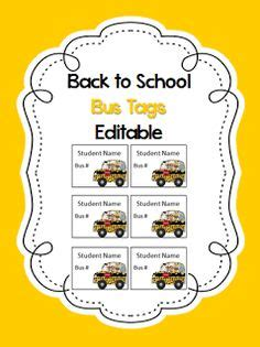 printable bus tags for students free printable bus rider labels for school kids teachers