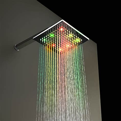 Changing Color Shower by 7 Colors Changing Led Chrome Shower Of 8 Inch