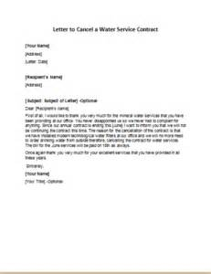 letter to cancel a water service contract writeletter2