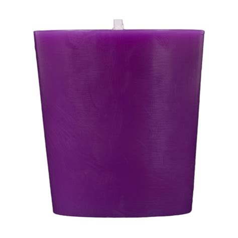purple votive candles