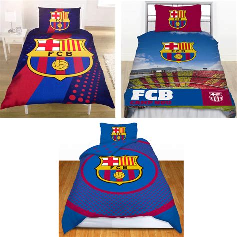 fc barcelona bedding barcelona football club fc barca single duvet quilt cover bedding set 3 designs ebay