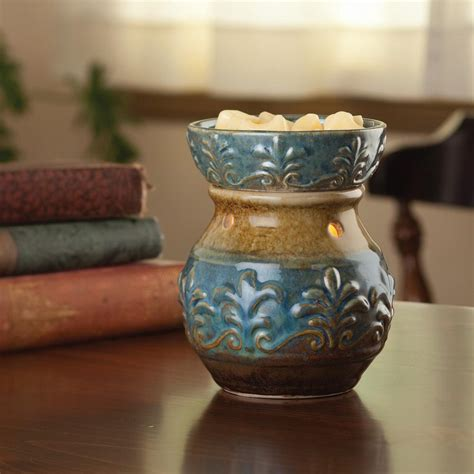 candel warmer candle warmers etc 8 8 in blue fleur de lis illumination