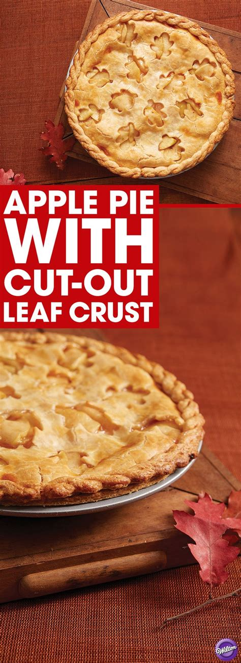 apple pie with cut out leaf crust wilton 43 best thanksgiving recipes images on pinterest